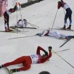 Thể thao - Những cú ngã đau tại Olympic Sochi