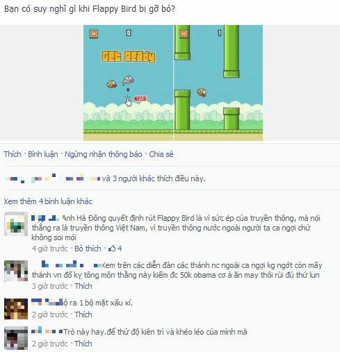 Giới trẻ tranh cãi khi Flappy Bird bị gỡ bỏ - 2