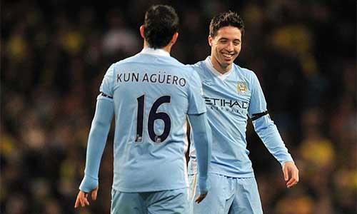 Man City đón tin vui từ Aguero và Nasri - 1