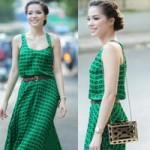 Thời trang - Quách An An mong manh váy dài trên phố
