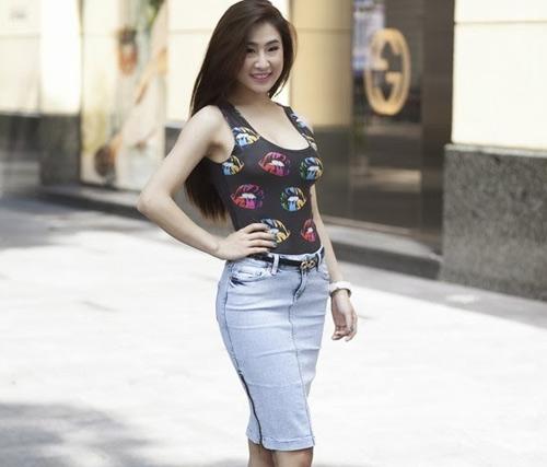 Ngắm cô gái tự nhận ngực đẹp nhất Việt Nam - 10