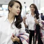 """Thời trang - Ngắm Thanh Hằng """"chất lừ"""" ở sân bay"""
