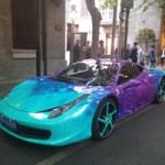 Ô tô - Xe máy - Ferrari 458 Italia phủ màu độc tựa giải ngân hà