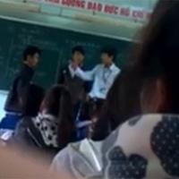 Học sinh đánh trả thầy giáo trên bục giảng