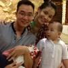 Hoa hậu Thùy Lâm khoe ảnh gia đình hạnh phúc