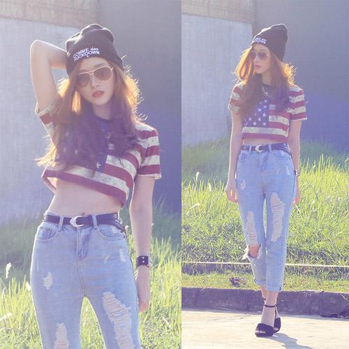 Hotgirl Indonesia mặc gì dạo phố? - 16
