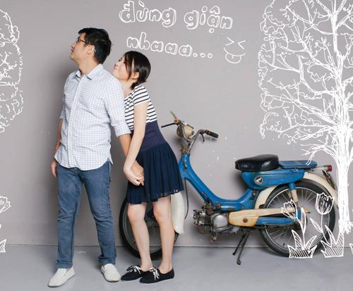 Ảnh cưới tinh nghịch của Quỳnh Anh (Mắt Ngọc) - 4