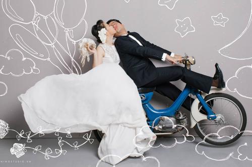 Ảnh cưới tinh nghịch của Quỳnh Anh (Mắt Ngọc) - 13