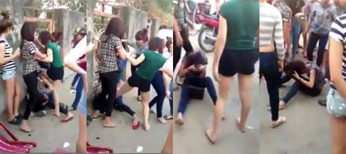 Clip: Thiếu nữ bị đánh hội đồng giữa đường - 1
