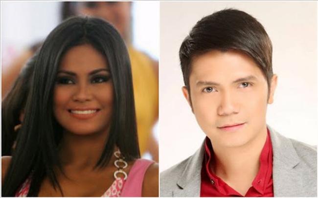 Hoa hậu Roxanne Cabanero Acosta và MC Vhong Navarro