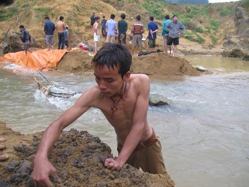Dân xới tung lòng suối để mót gỗ sưa tiền tỷ - 1