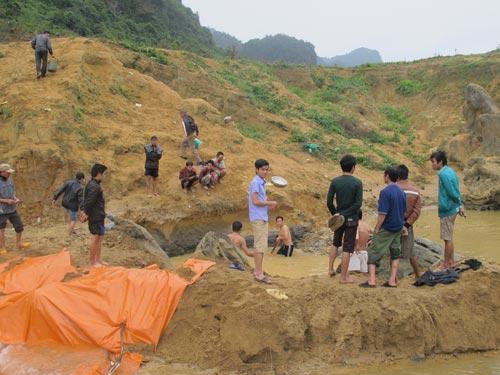 Dân xới tung lòng suối để mót gỗ sưa tiền tỷ - 6