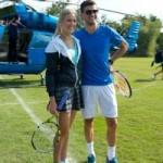 Thể thao - Mỹ nhân & Baby Federer chơi tennis trên biển