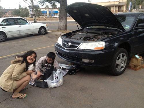 Ba nữ sinh Đà Nẵng khám phá Mỹ bằng xe hơi - 2
