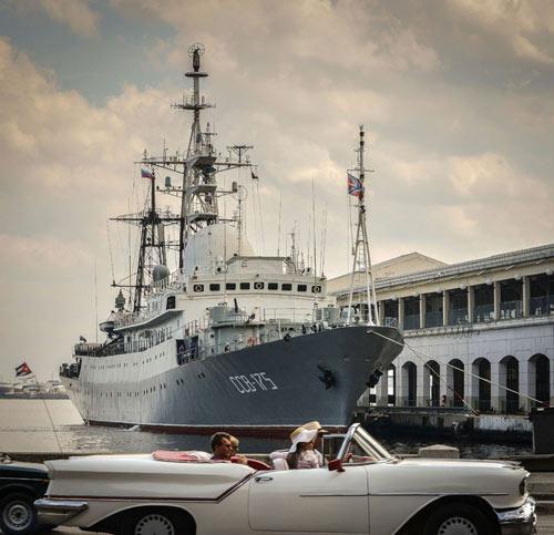 Tàu chiến Nga âm thầm tới Cuba - 1