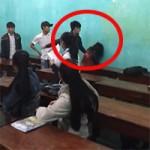 Bạn trẻ - Cuộc sống - Phẫn nộ 3 nam sinh đánh bạn nữ trong lớp