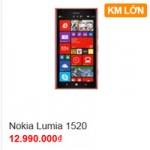 Thời trang Hi-tech - Nokia Lumia 1520 rớt giá 3 triệu đồng