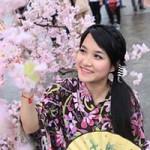 Bạn trẻ - Cuộc sống - Thiếu nữ Việt dịu dàng bên hoa anh đào
