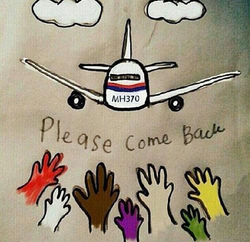 Dân mạng cầu nguyện cho máy bay mất tích - 2