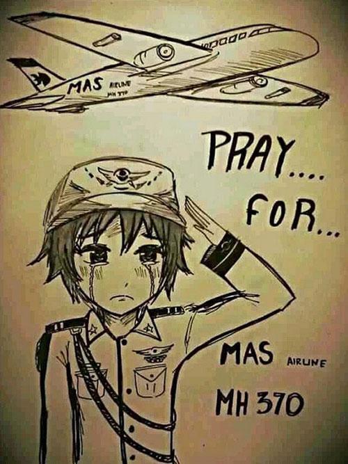 Dân mạng cầu nguyện cho máy bay mất tích - 5