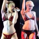 Thời trang - Miley bị la ó vì mặc nội y lên sân khấu