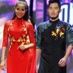 Thời trang - Mẫu Việt duyên dáng với áo dài thêu hoa