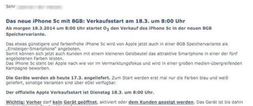 Apple bất ngờ tung iPhone 5C bản 8GB - 1