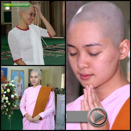 Sửng sốt người đẹp Myanmar xuống tóc đi tu - 3
