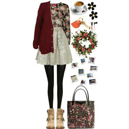 8 gợi ý mặc họa tiết hoa cho nữ sinh - 8
