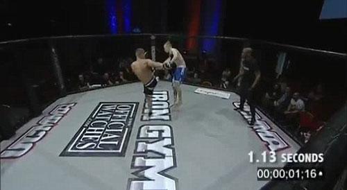Kỷ lục knock-out 1 giây trên sàn MMA - 1