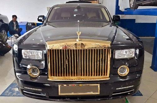 Rolls-Royce Phantom độ vàng 24k ở Hà Nội - 10