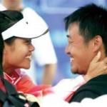"""Thể thao - Li Na """"đuổi"""" chồng khỏi khán đài"""