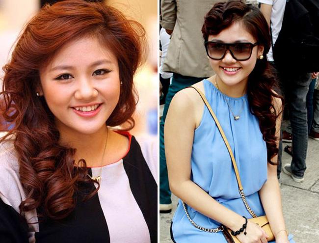 Văn Mai Hương bước chân vào showbiz Việt hào nhoáng với kiểu tóc không mấy ấn tượng