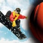 Thể thao - Ngoạn mục vừa trượt tuyết vừa.. úp rổ