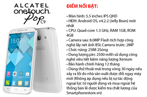 Bộ tứ android ALCATEL C9,C7,C5,C1 giá rẻ đáng mua - 1