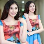 Thời trang - Hoa hậu Ngọc Hân rạng rỡ cùng váy hoa