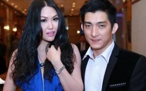 Phi Thanh Vân đẫy đà đi dự tiệc cùng ông xã