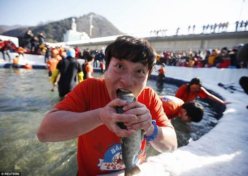 Độc đáo lễ hội câu cá bằng miệng tại Hàn Quốc - 3
