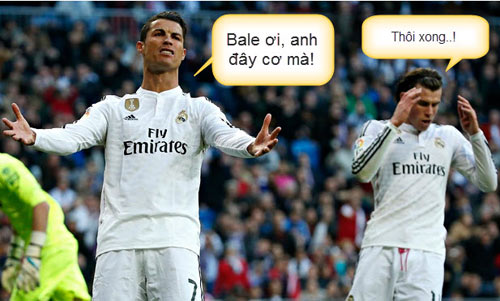 Ảnh chế: CR7 - Bale hục hặc, Messi - Enrique làm lành - 2