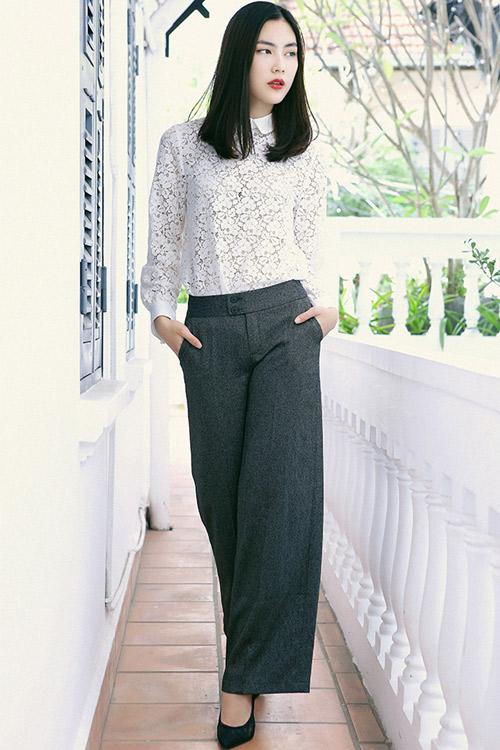 Hot girl Helly Tống xinh đẹp với thời trang du xuân - 5