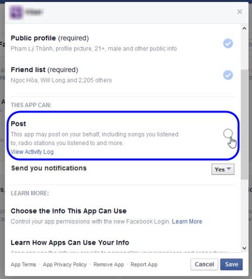 Cách ngăn ứng dụng Facebook đăng thông tin nhảm lên timeline - 3