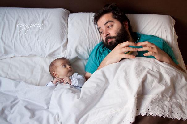 """Những khoảnh khắc """"cha nào con nấy"""" siêu đáng yêu - 3"""