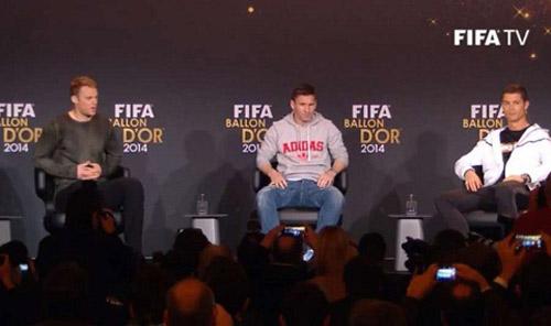 Ronaldo giành QBV FIFA 2014 - 11