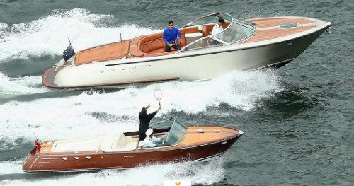 """Federer đánh """"Tennis siêu tốc"""" trên du thuyền - 2"""