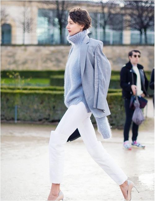 11 cách mặc đẹp với áo len cổ lọ - 3