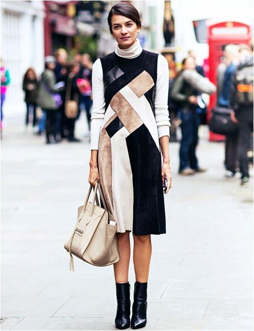 11 cách mặc đẹp với áo len cổ lọ - 11
