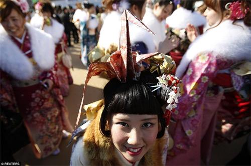 Hàng nghìn thiếu nữ Nhật xinh đẹp trong lễ Trưởng thành - 4