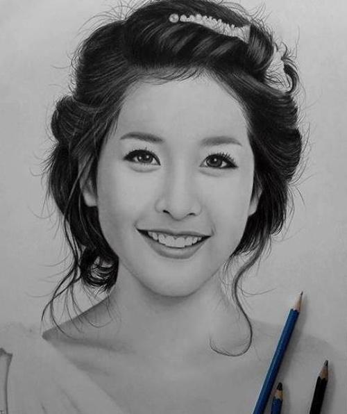 Nhan sắc hot girl Việt dưới nét vẽ của họa sỹ 9x