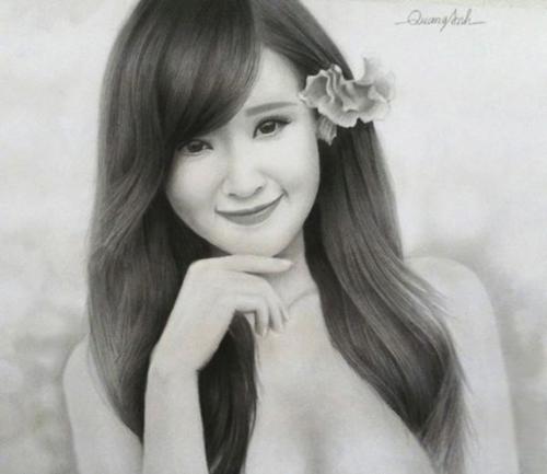 Nhan sắc hot girl Việt dưới nét vẽ của họa sỹ 9x - 4