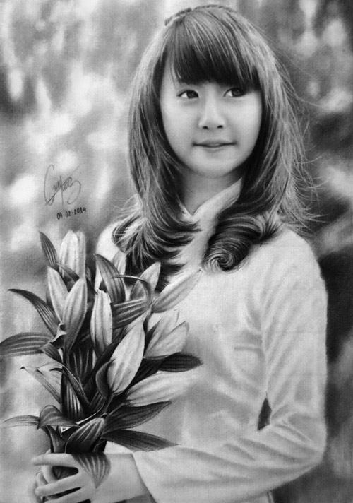Nhan sắc hot girl Việt dưới nét vẽ của họa sỹ 9x - 6